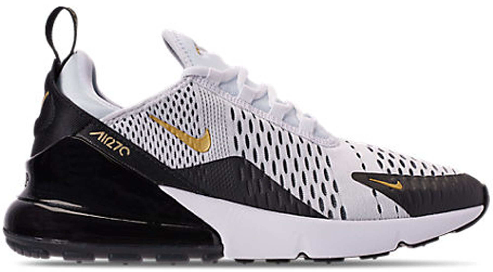 Air Max 270 White Metallic Gold Black