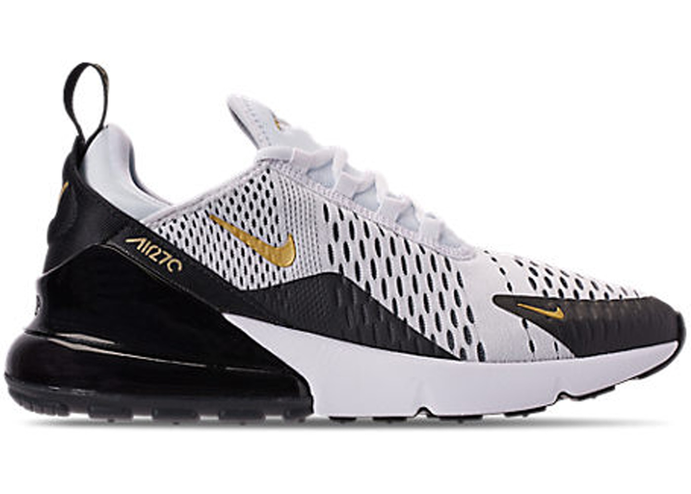 buy popular ed8ad cd8b0 Air Max 270 White Metallic Gold Black