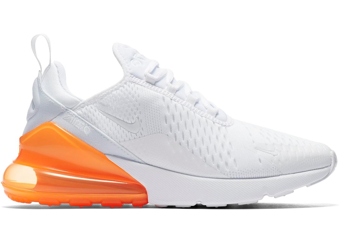 Nike Air Max 270 White Pack (Total Orange)