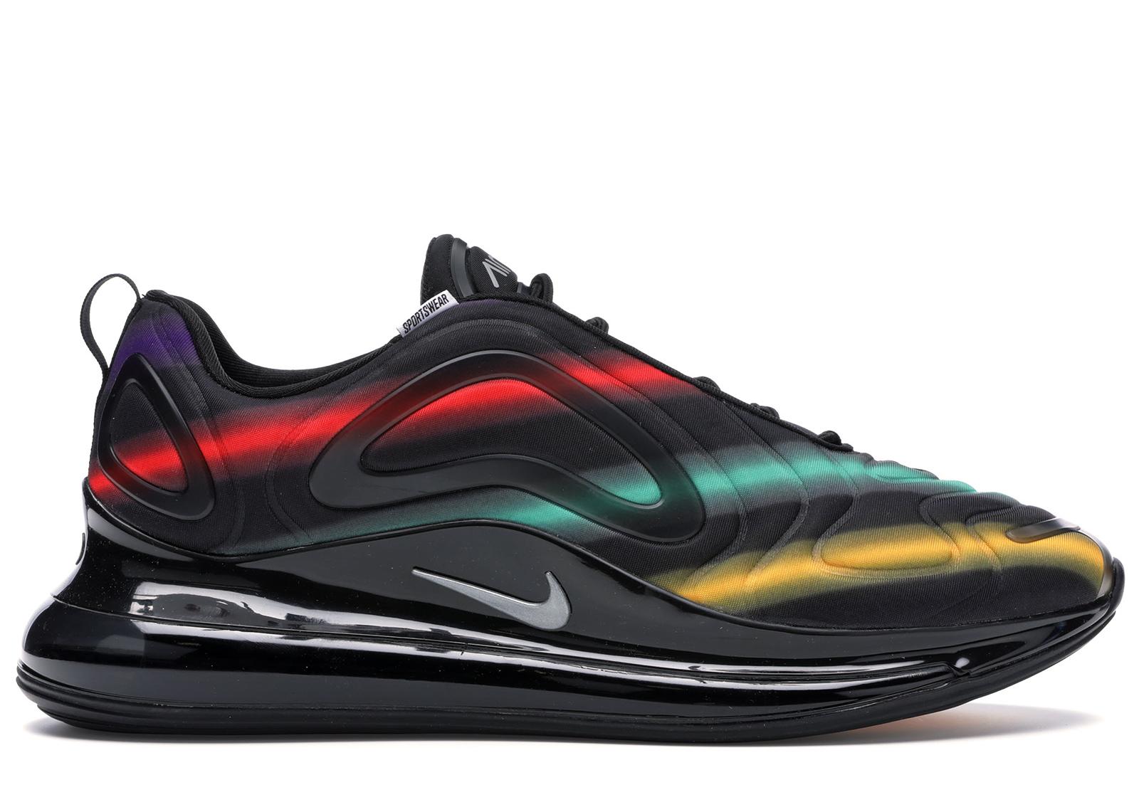 Nike Air Max 720 Black Neon Streaks