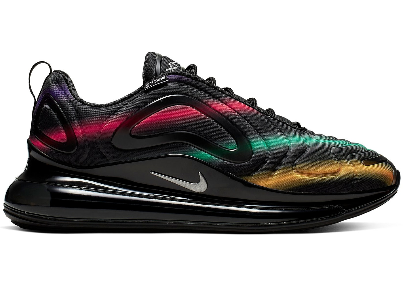 New Nike Air Max 720 Black Neon Green On Sale
