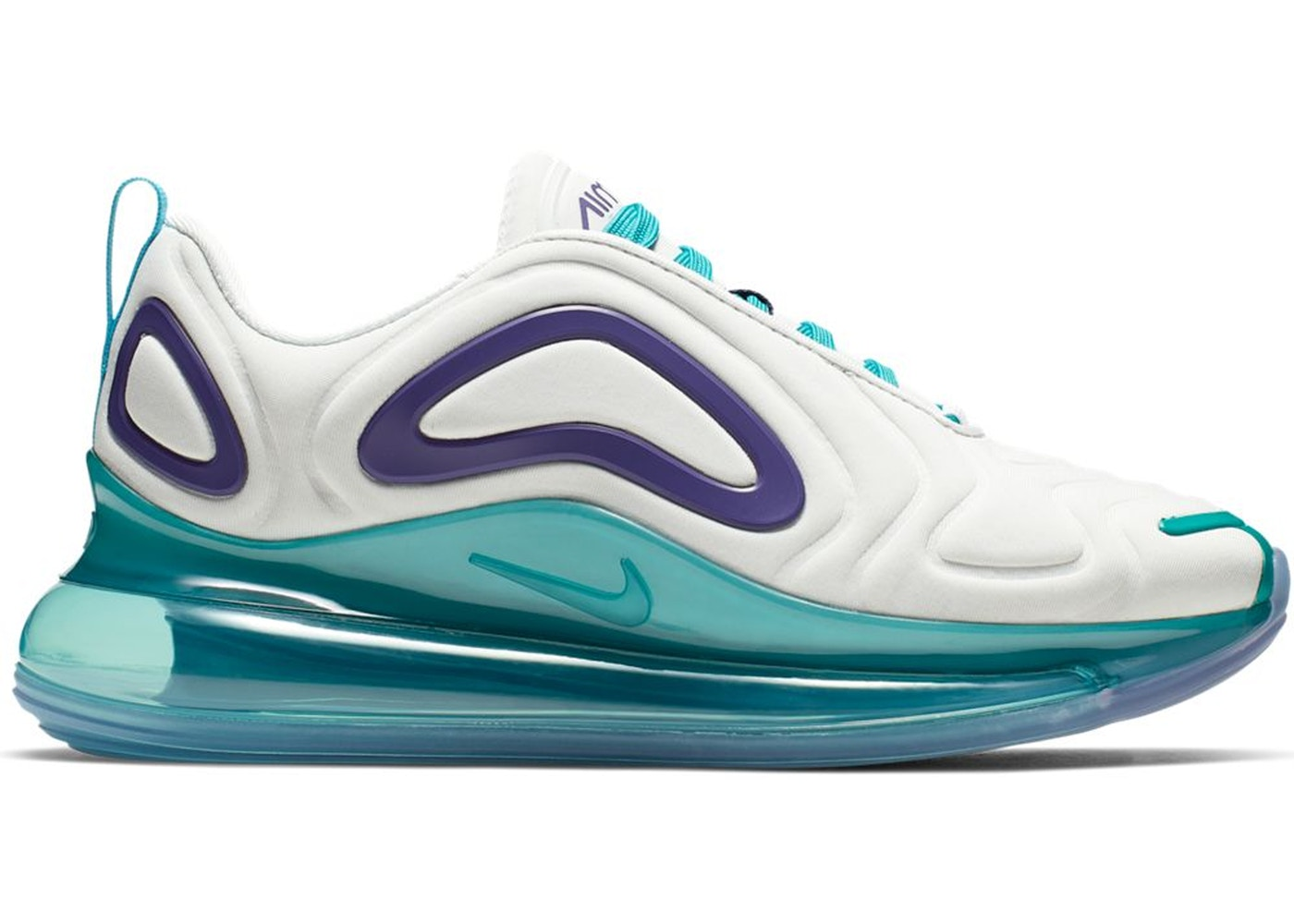 Travieso Isla de Alcatraz financiero  Nike Air Max 720 White Spirit Teal Court Purple (W) - AR9293-100