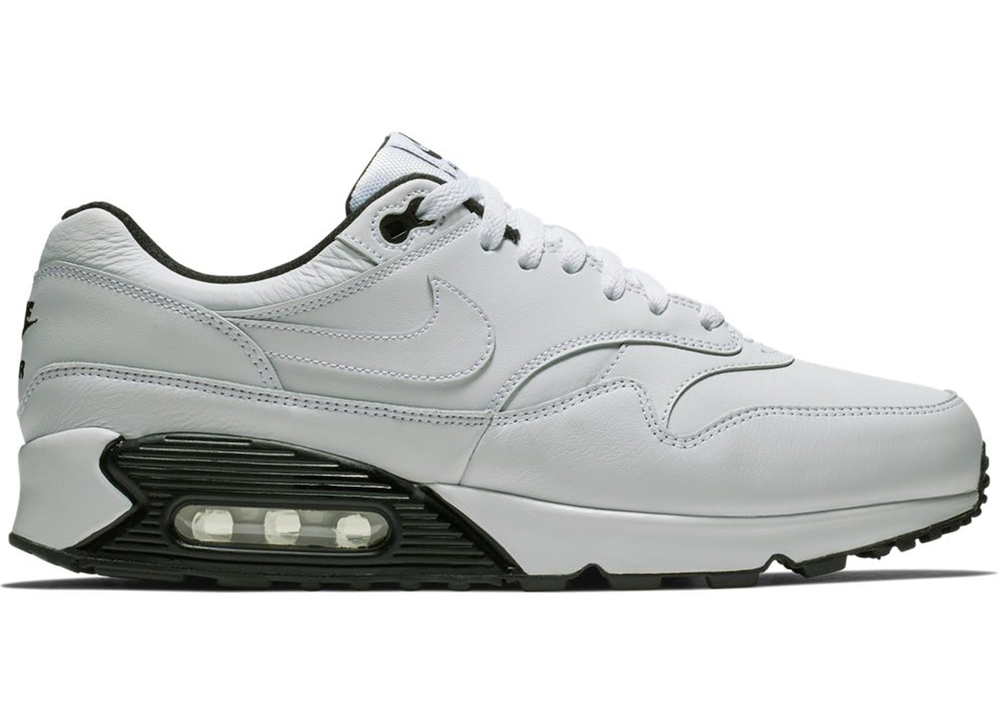 designer fashion f3ad1 a3576 Air Max 90 1 White Black