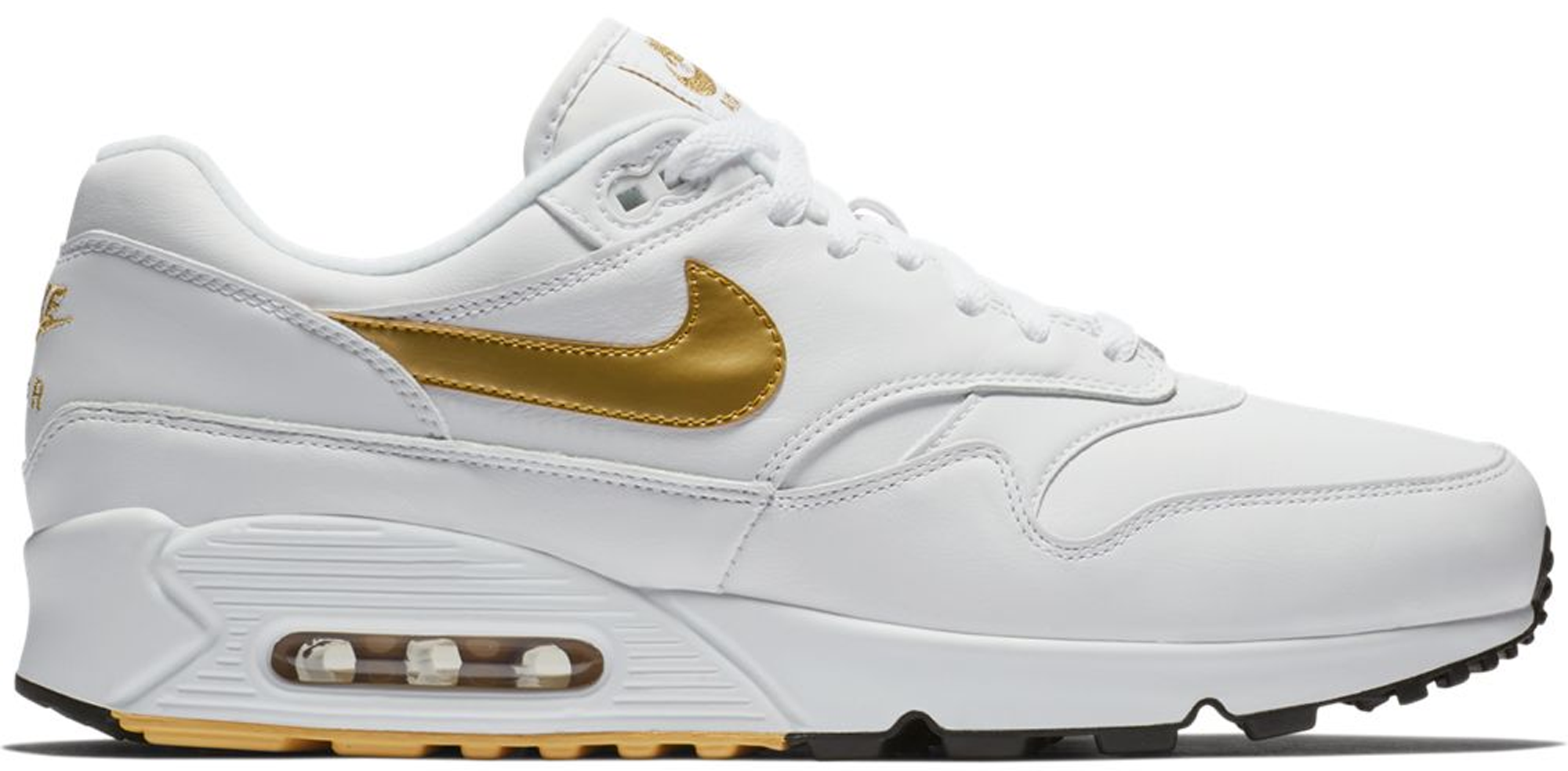 white and gold air max 90