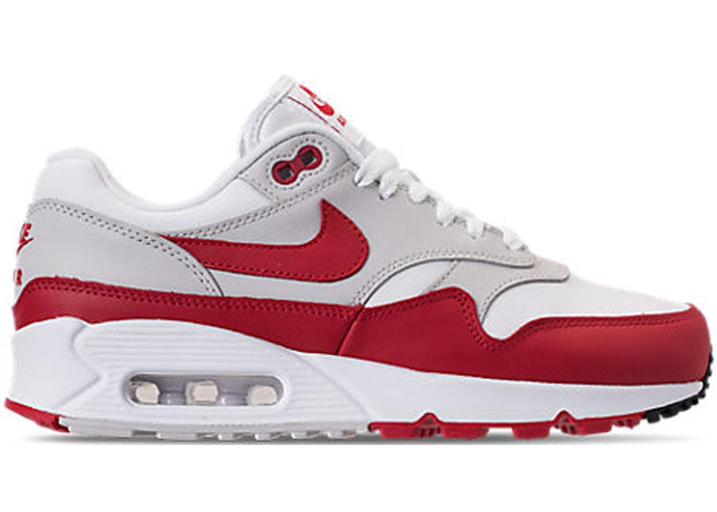 3d0e180c Air Max 90/1 White University Red (W) - AQ1273-100