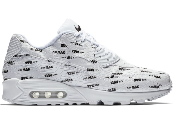 ba40ee56f7bb Air Max 90 All Over Print White Black