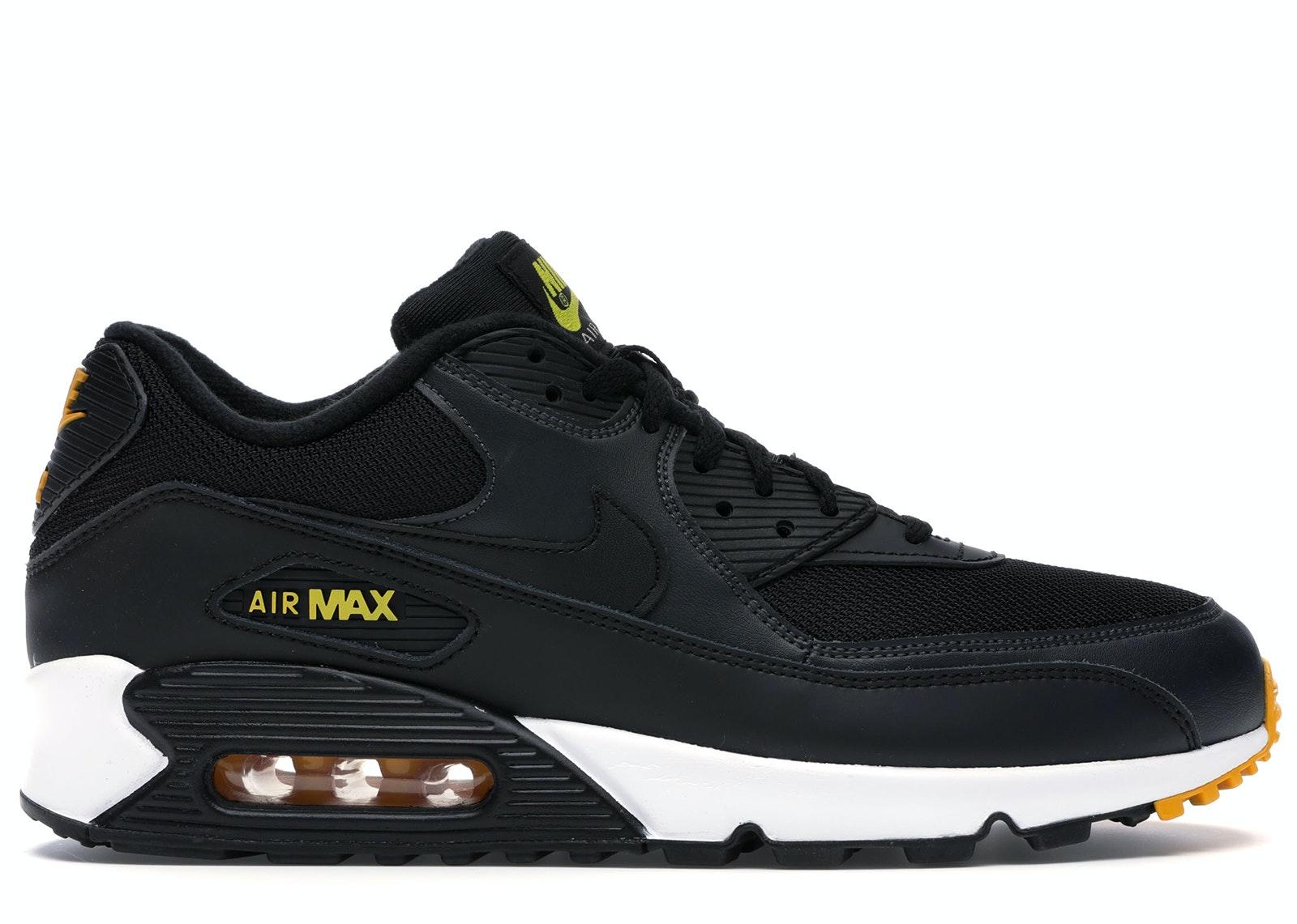 NIKE AIR MAX 90 ESSENTIAL 90/'s BLACK//AMARILLO//ANTHRACITE