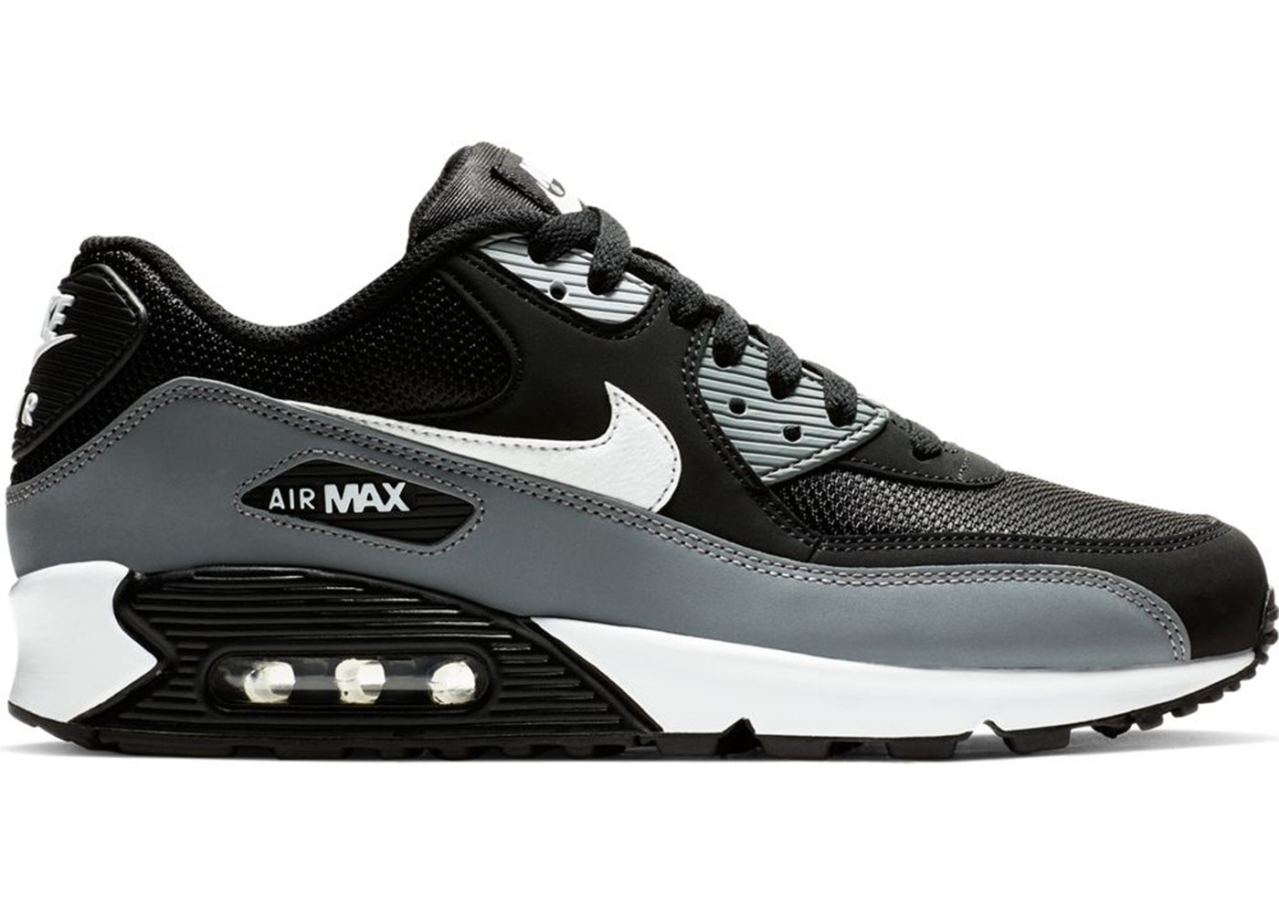 Nike Air Max 90 Black Cool Grey White Aj1285 018