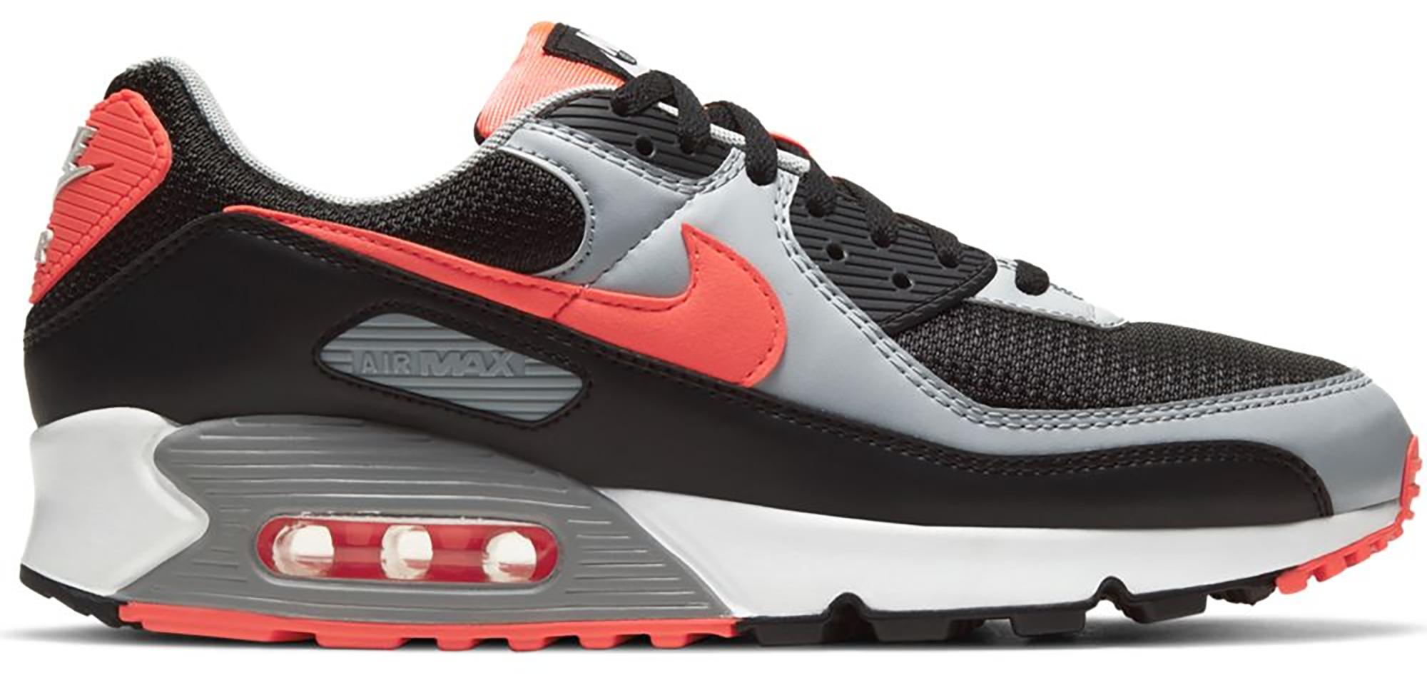 Nike Air Max 90 Black Radiant Red Wolf