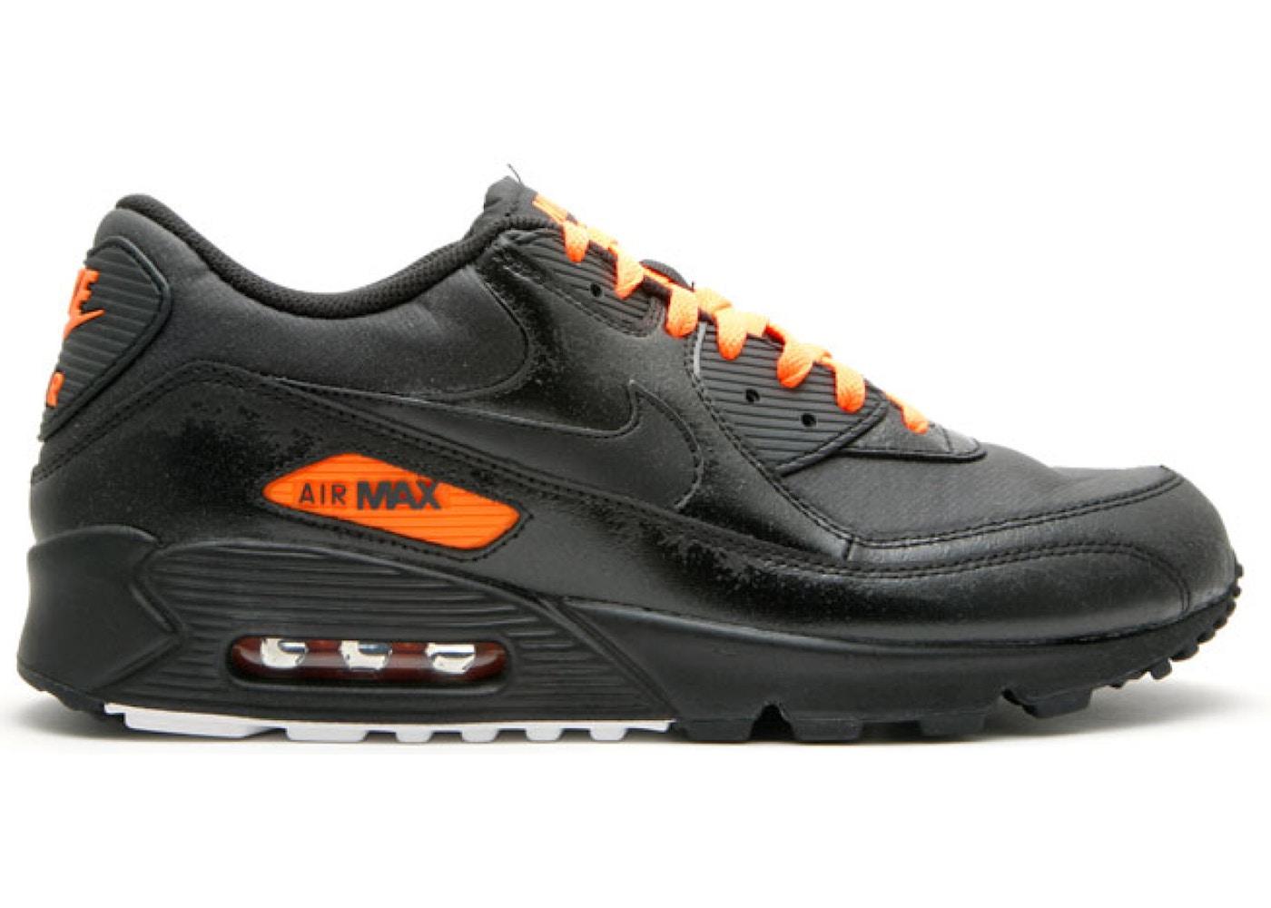 air max 90 noire orange