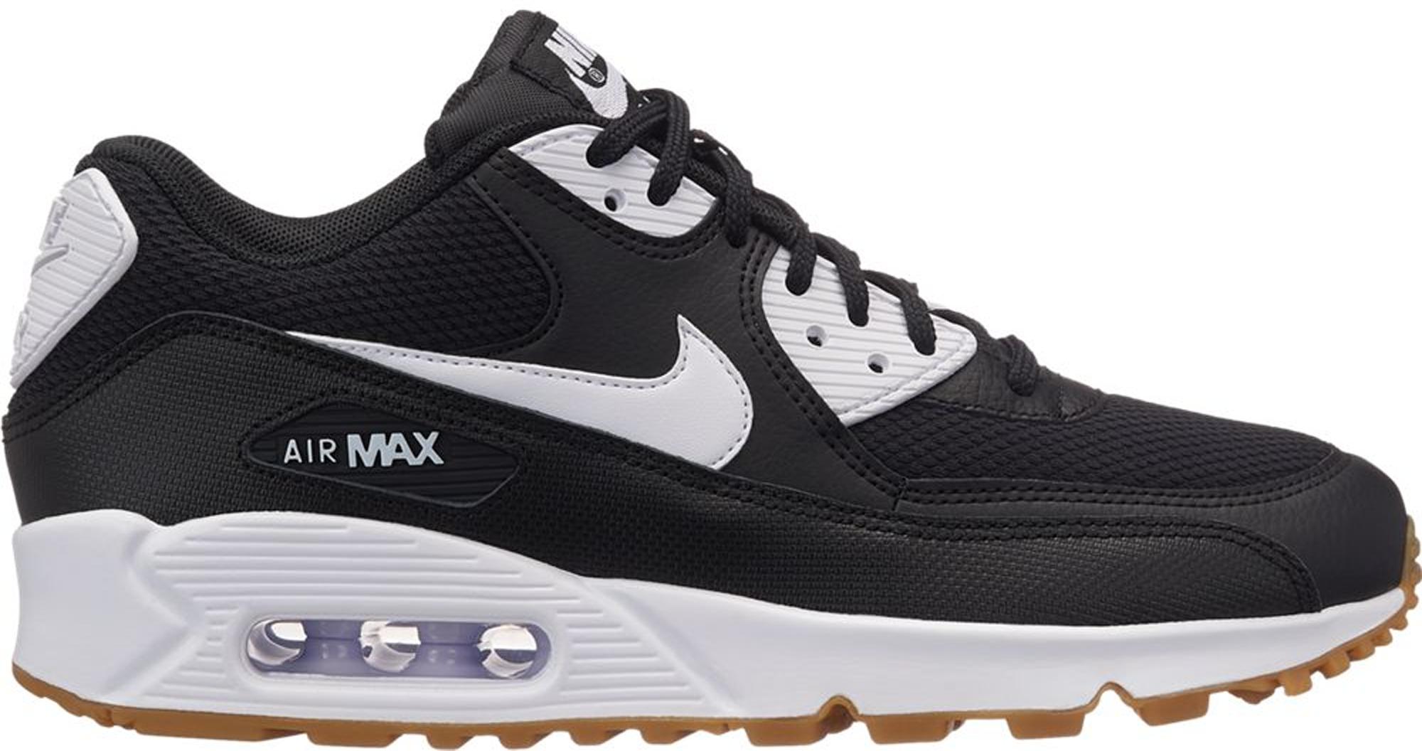 Nike Air Max 90 Black White Gum (W