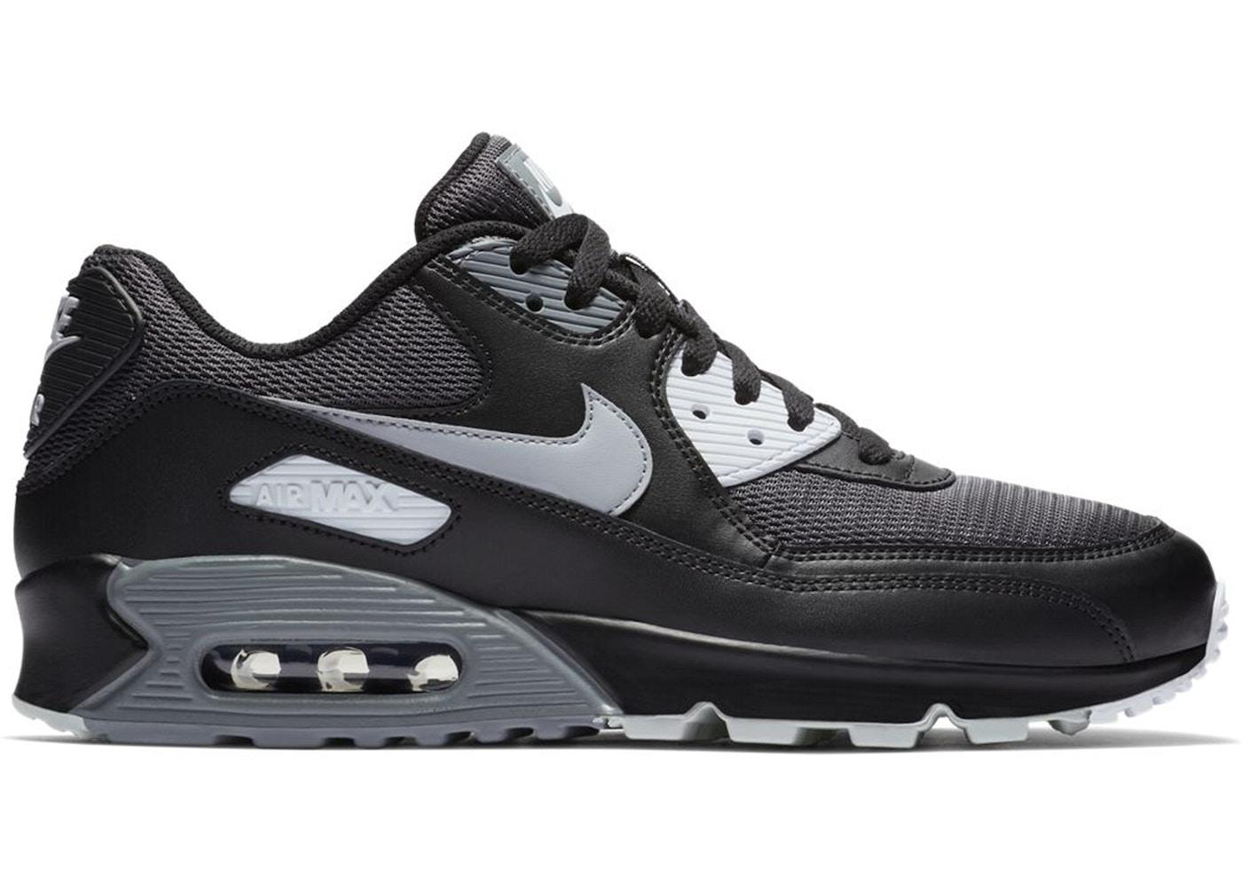 Nike Air Max 90 Black Wolf Grey Dark Grey
