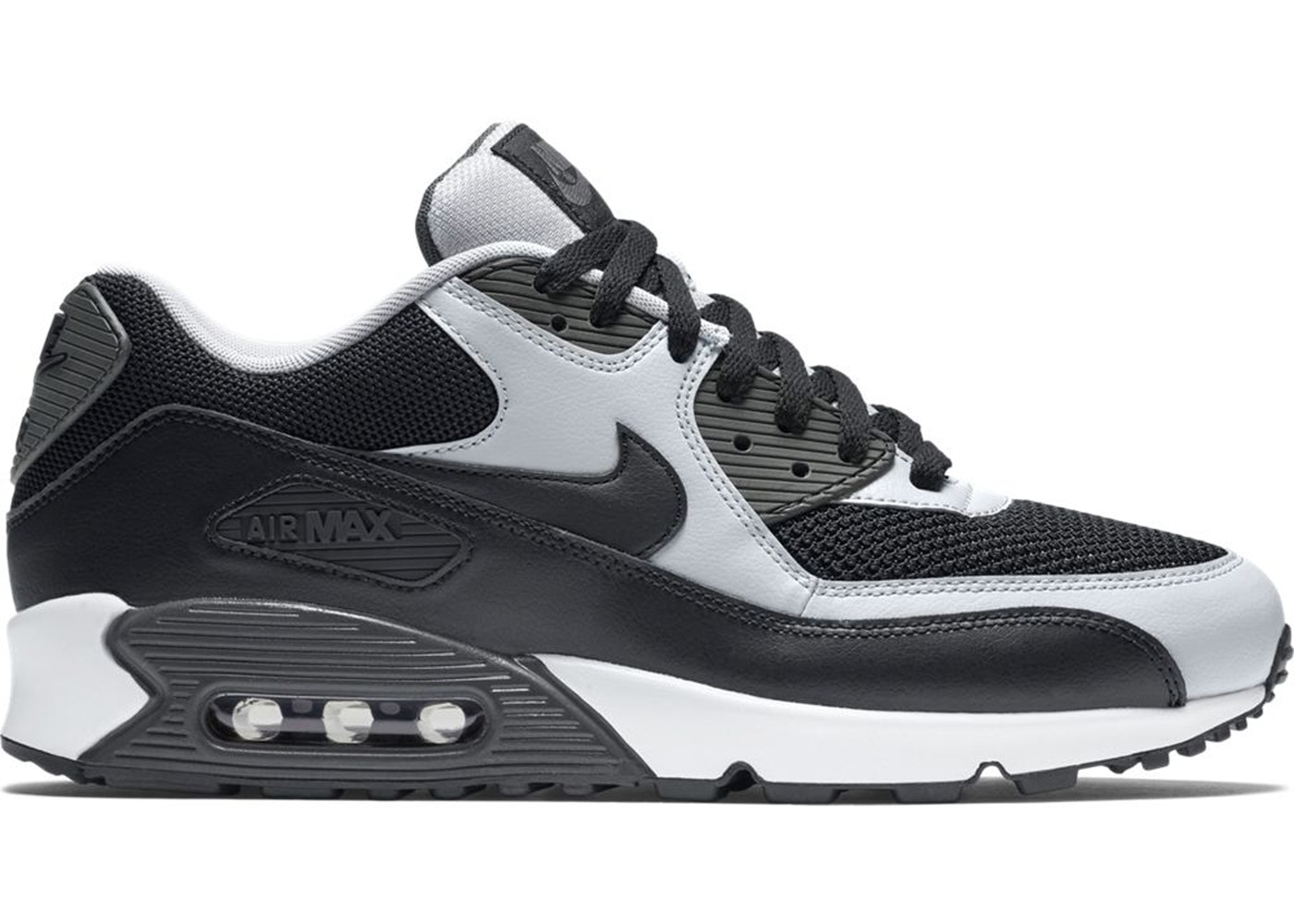 buy popular a2a33 20cc8 Air Max 90 Black Wolf Grey - 537384-053