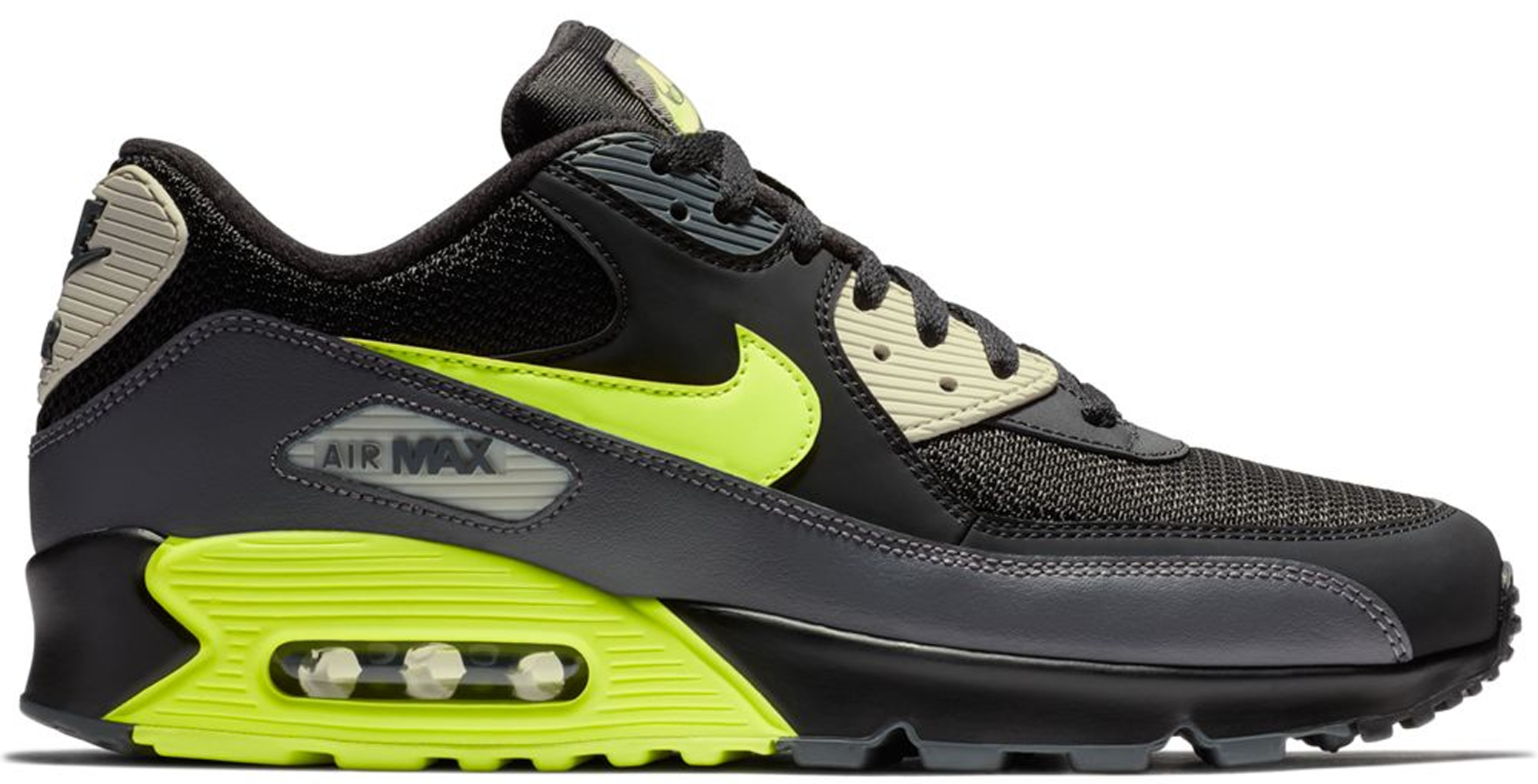 Air Max 90 Dark Grey Black Volt