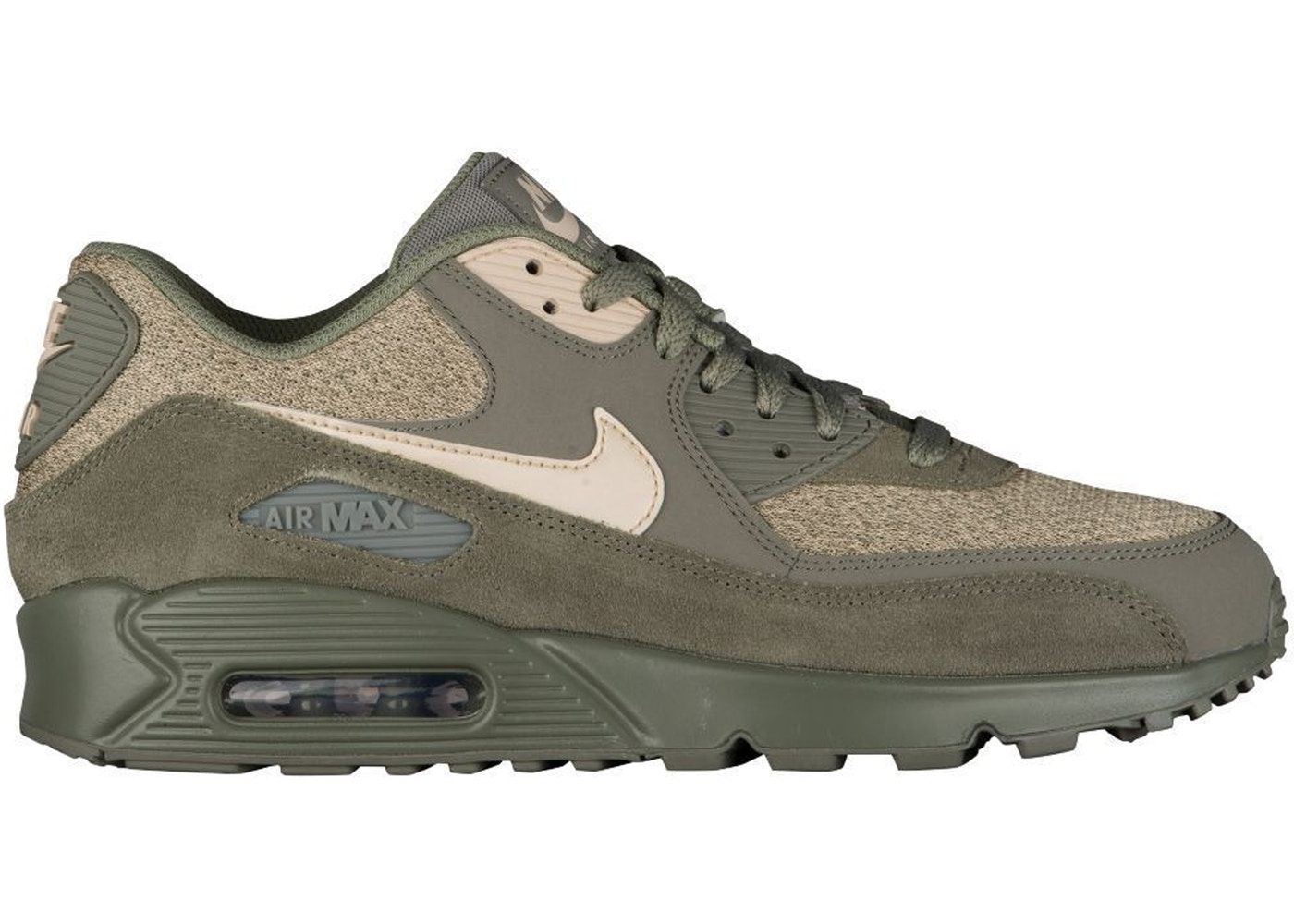 NIKE Men's Air Max 90 Dark StuccoOatmealMushroom Leather