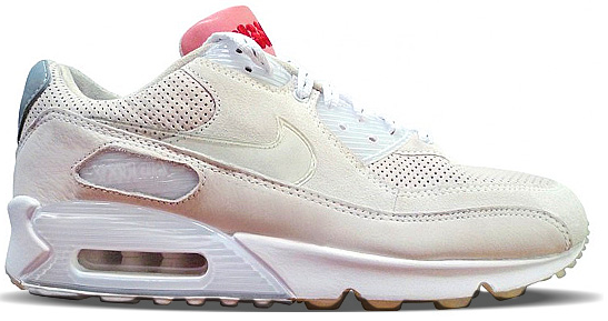 Nike Air Max 90 Dizzee Rascal Tongue N Cheek Sneakers (White/Clear-Metallic Silver-Chalk)