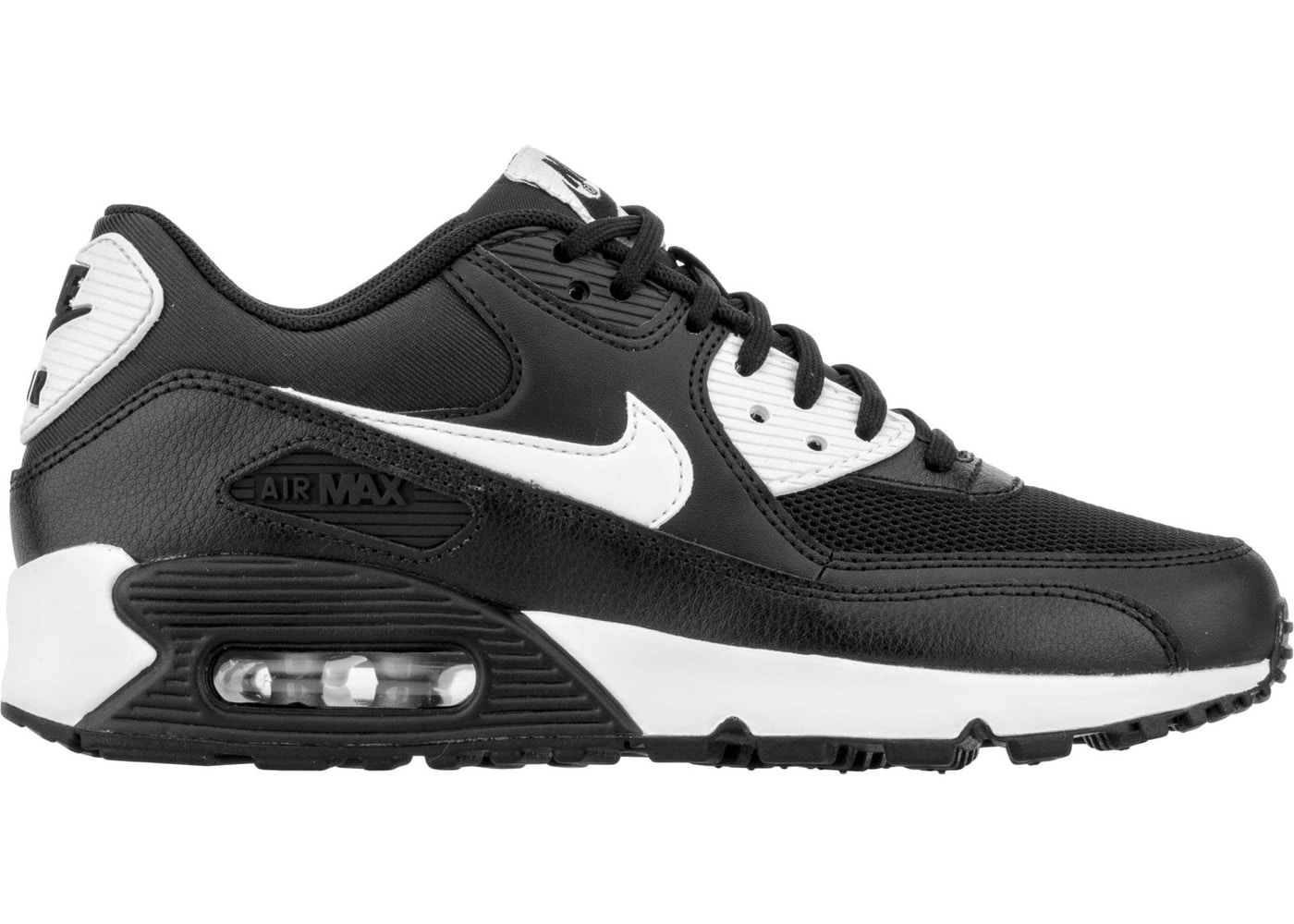 air max 90 black with white