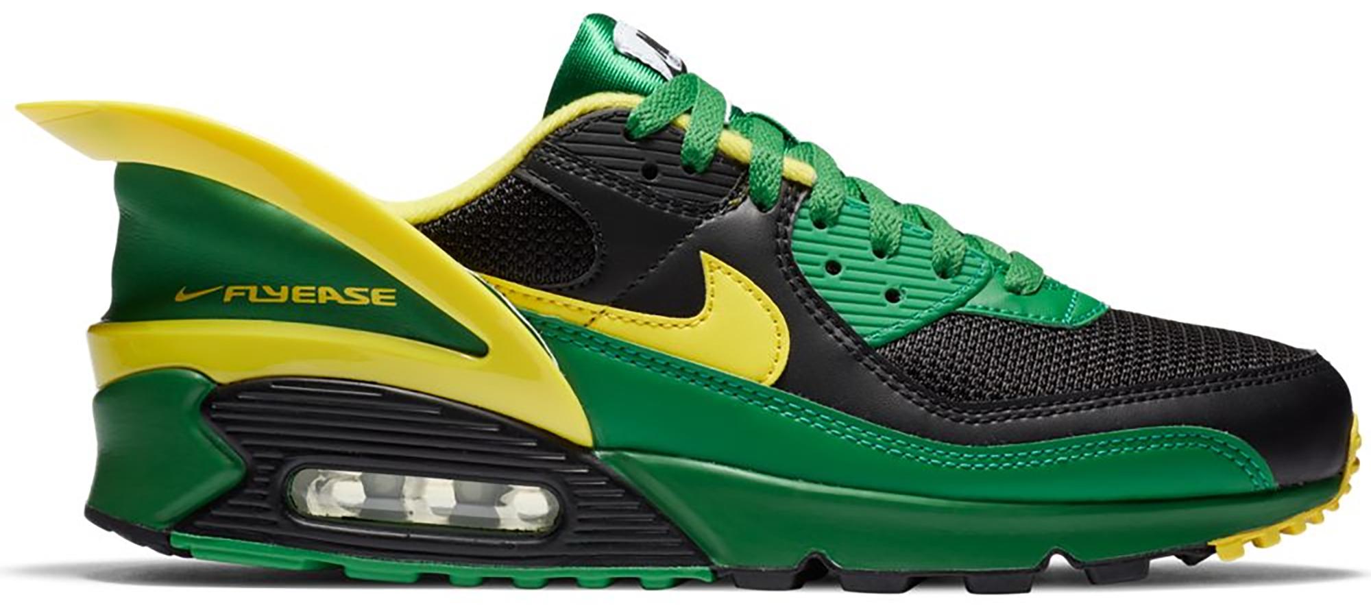 Nike Running Chaussure Nike Air Max 90 FlyEase - Black/Apple Green ...