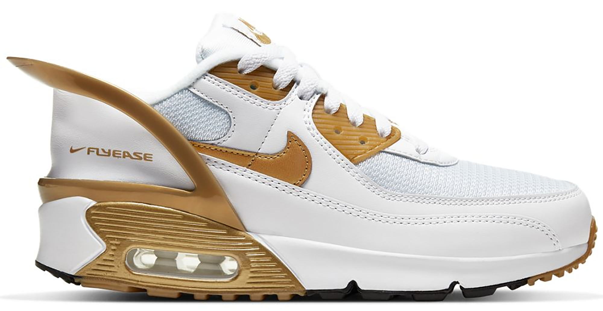 Nike Air Max 90 Flyease White Gold (GS