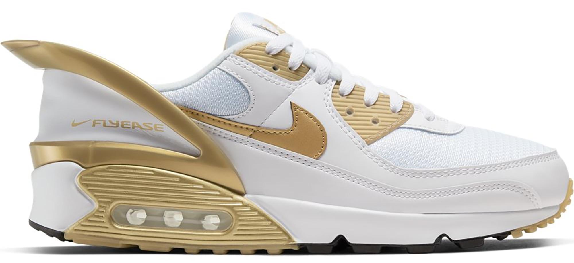 Nike Air Max 90 Flyease White Gold