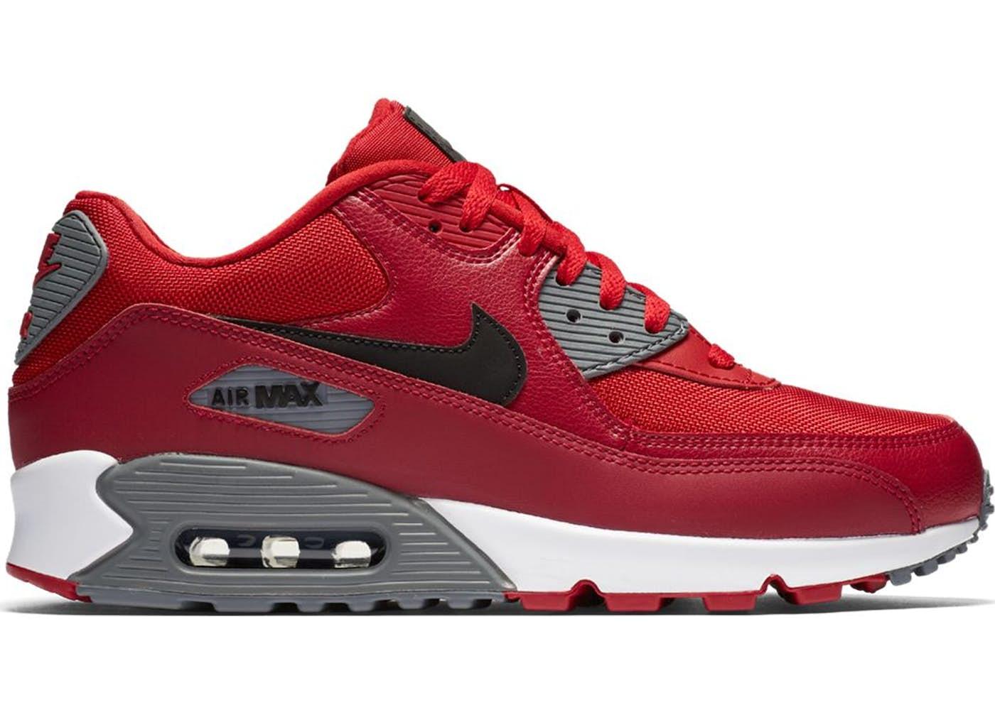 nike air max 90 red black