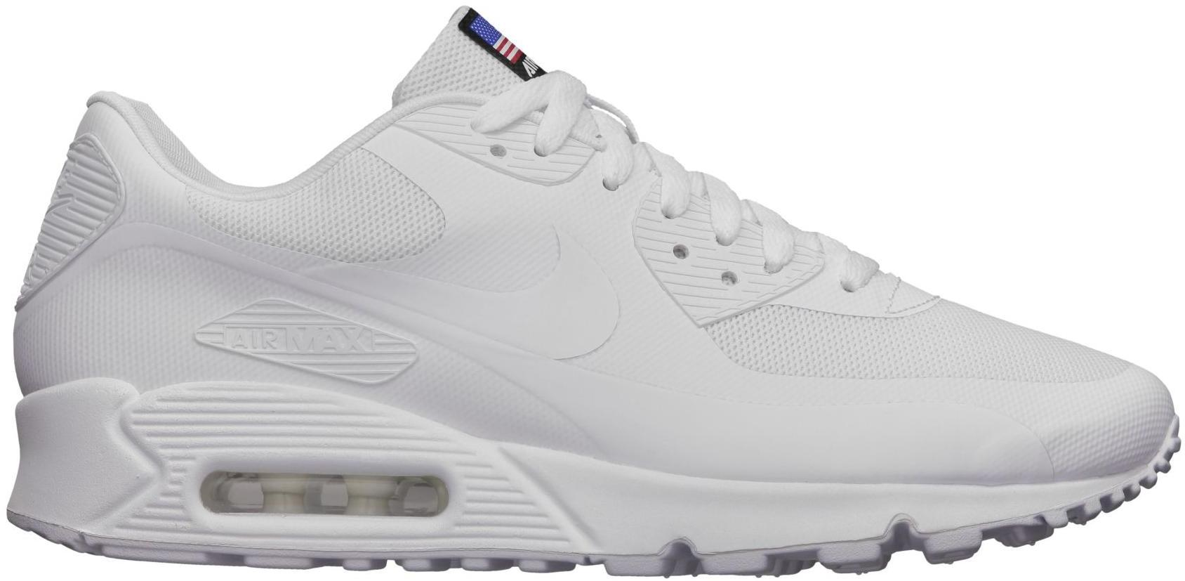 nike air max 90 all white hyperfuse