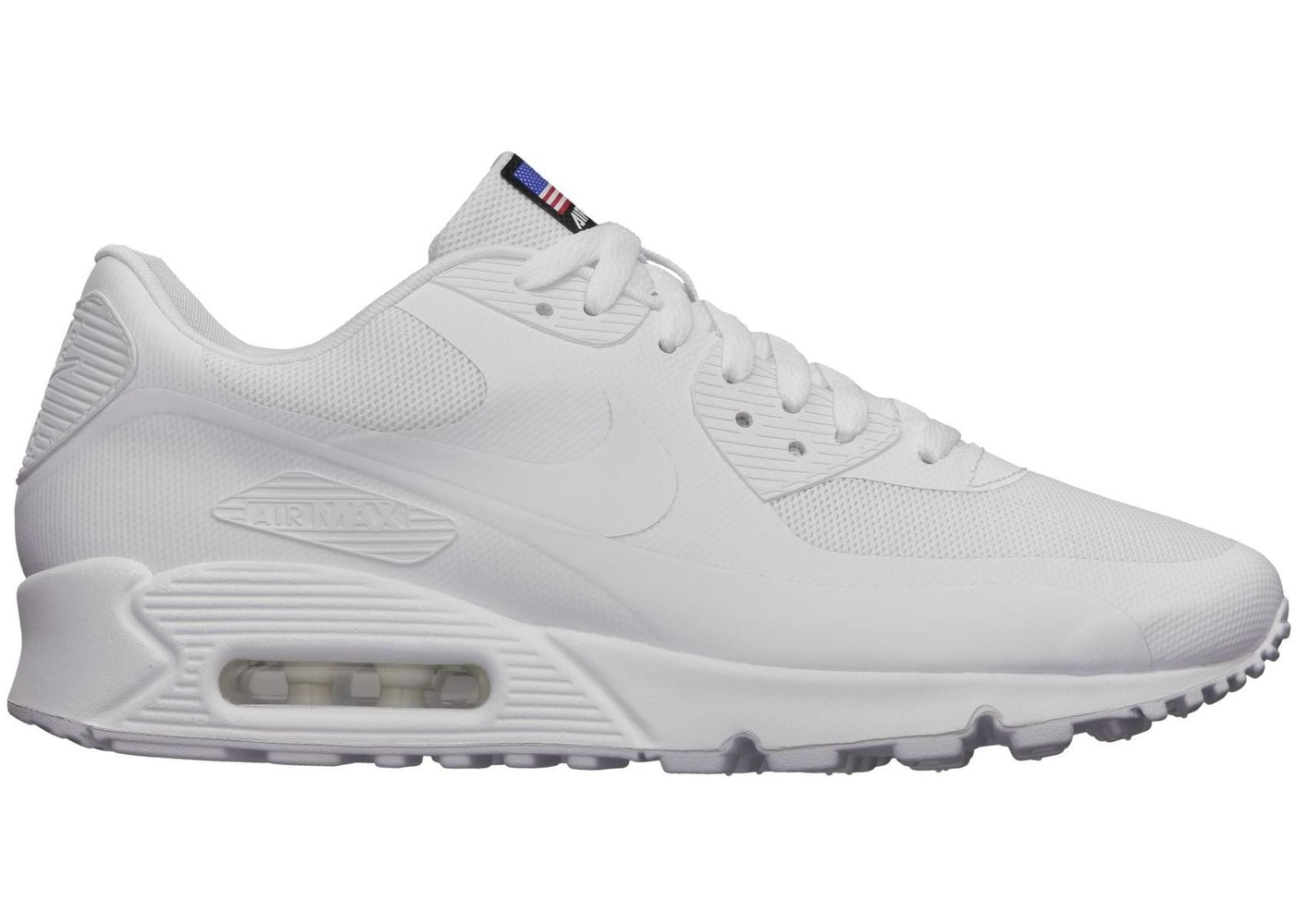 Tomba fessura larghezza  Nike Air Max 90 Hyperfuse Independence Day White - 613841-110