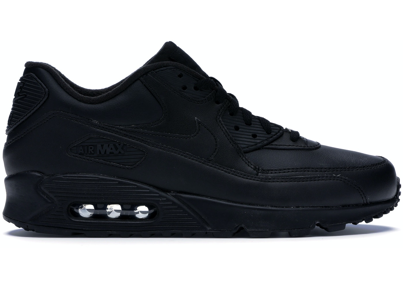 the latest 46eb0 b3748 Nike Air Max 90 Leather Black