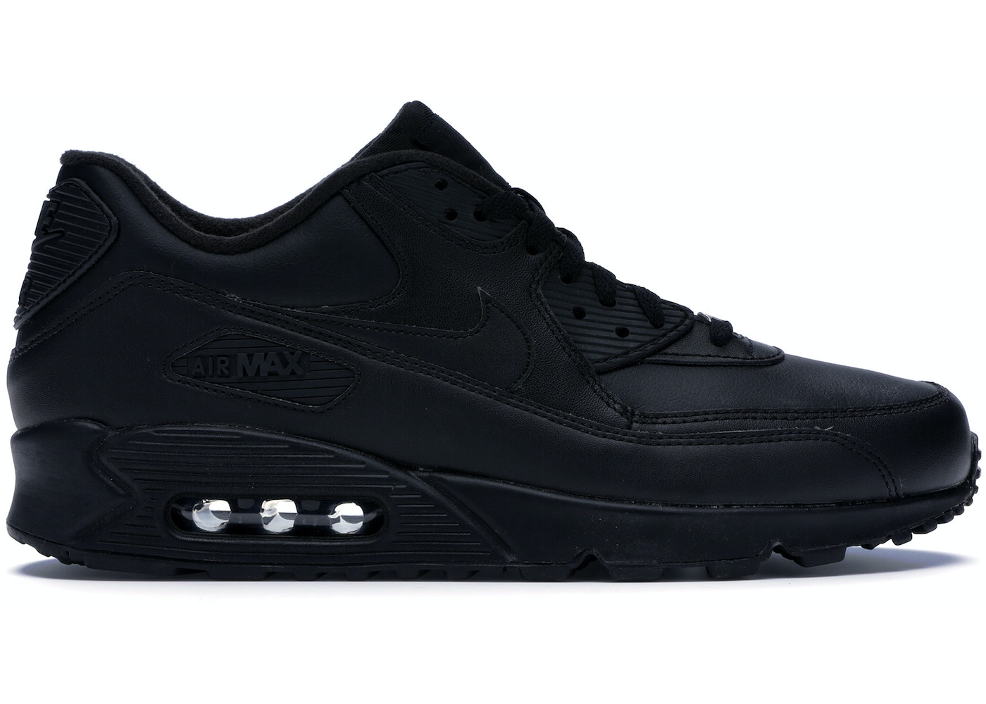 0ccfff173c Nike Air Max 90 Leather Black - 302519-001