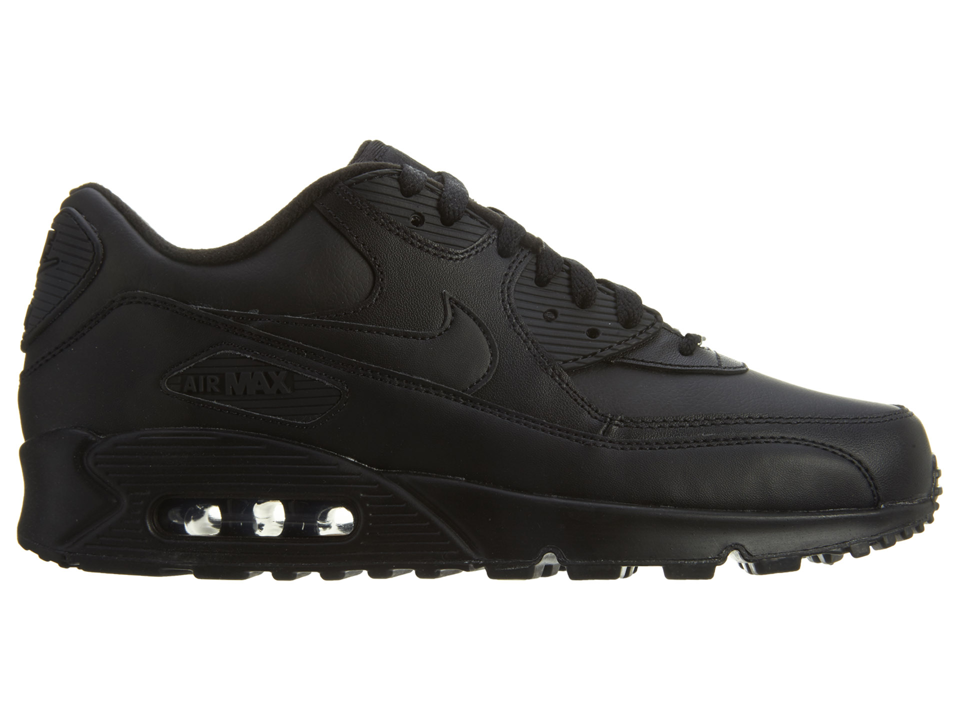 black leather air max 90