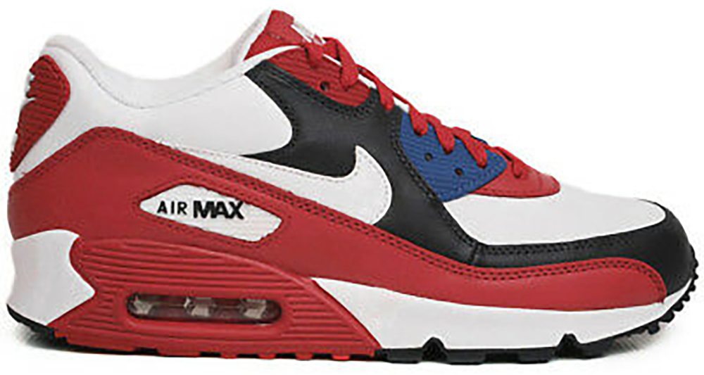 Nike Air Max 90 Leather Sport Red Dark