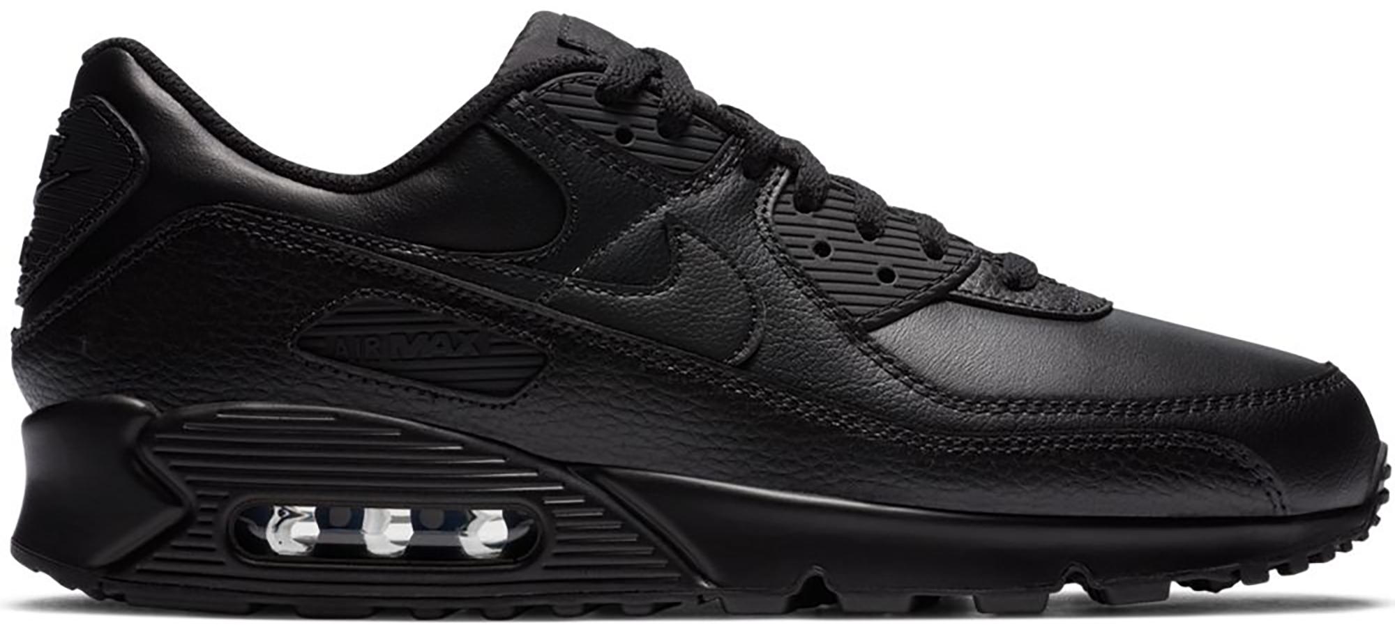 Nike Air Max 90 Leather Triple Black