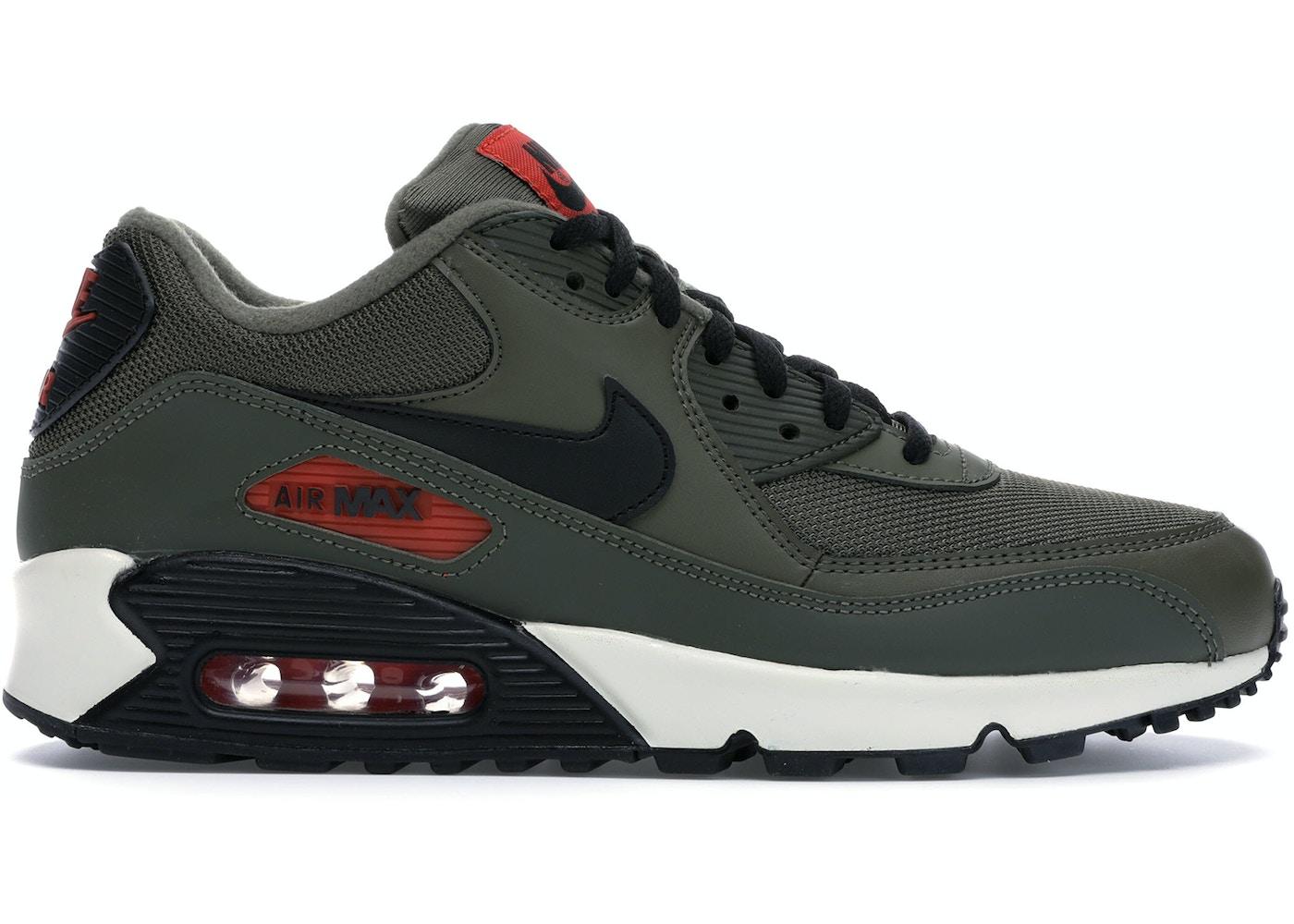 shop elegant shoes release date: Air Max 90 Medium Olive Black Team Orange