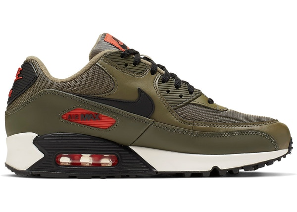 wholesale dealer 63567 f652d Air Max 90 Medium Olive Black Team Orange