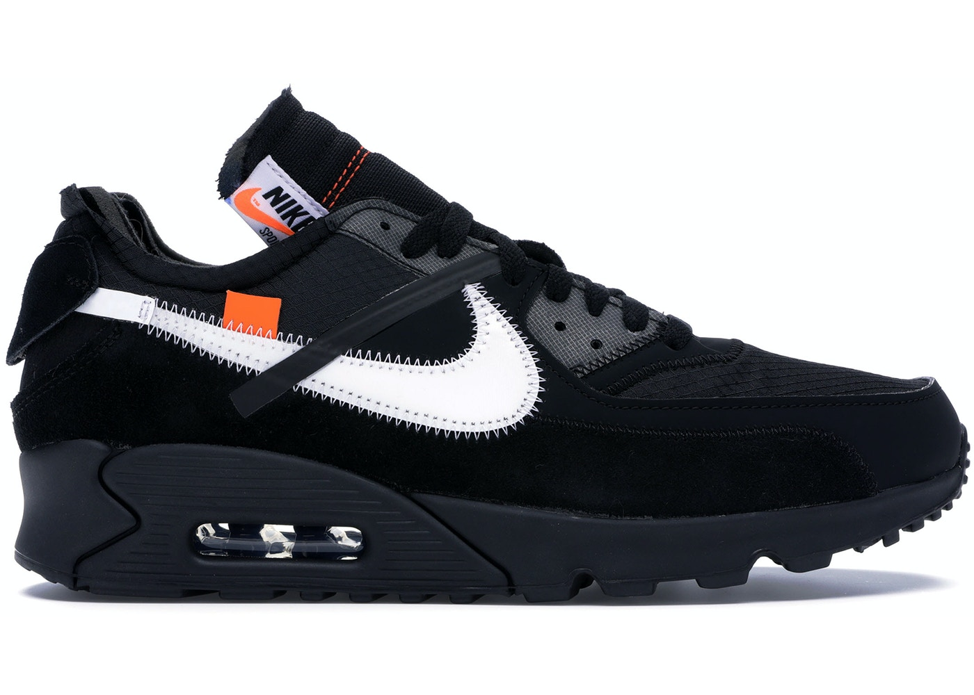 new product 66b36 89157 Air Max 90 OFF-WHITE Black