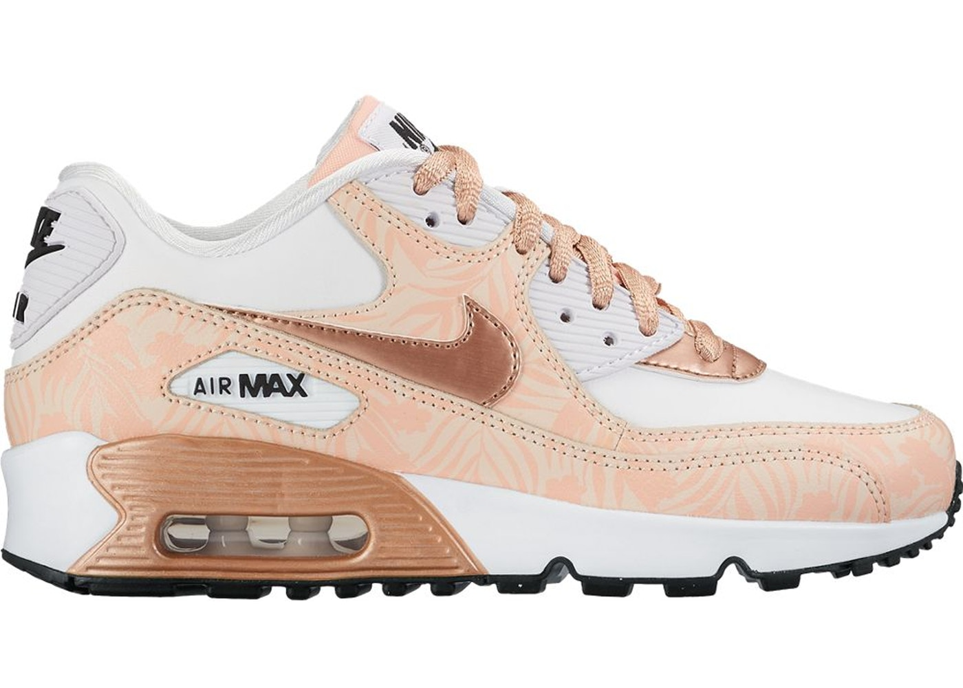 Nike Air Max Thea Print (GS) White Metallic Red Bronze