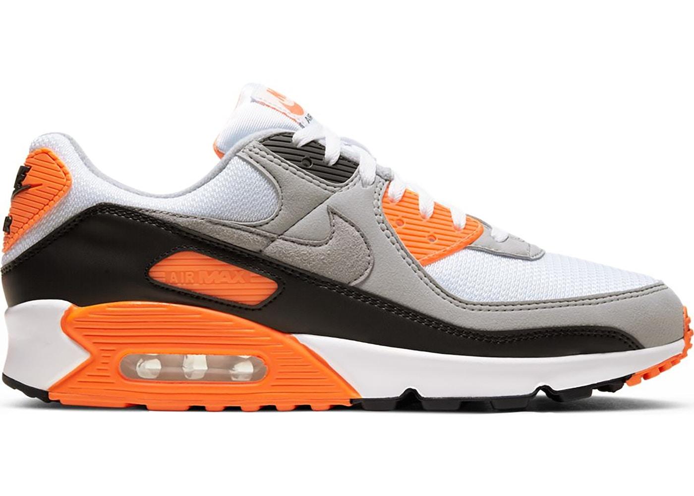 nike air max 90 orange et noir