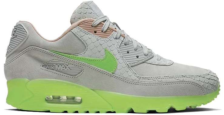 nike air max 90 gray and green