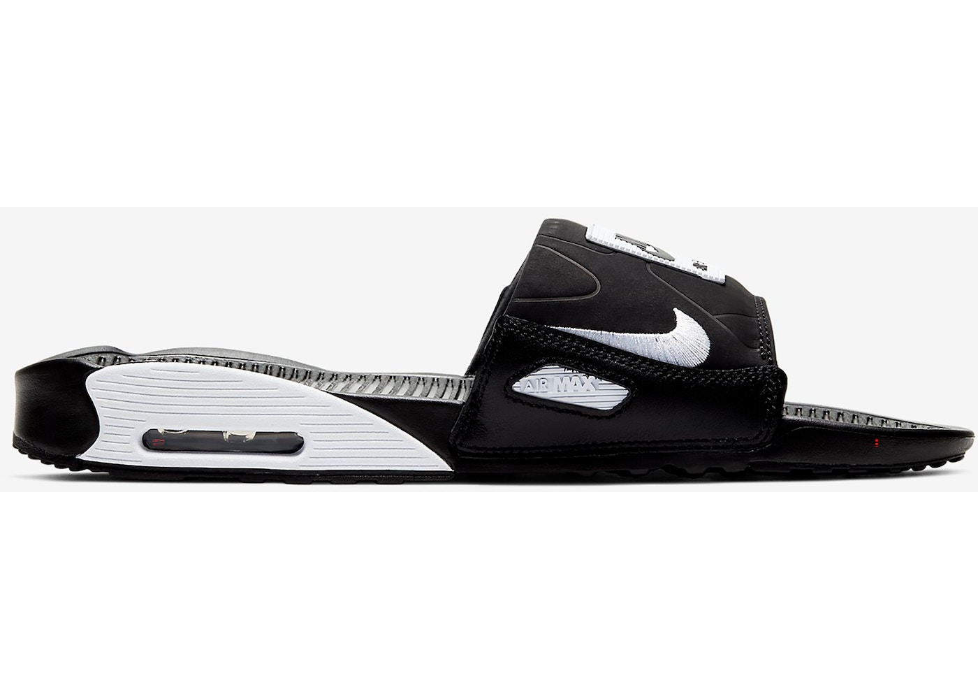Nike Air Max 90 Slide Black White BQ4635 002 |