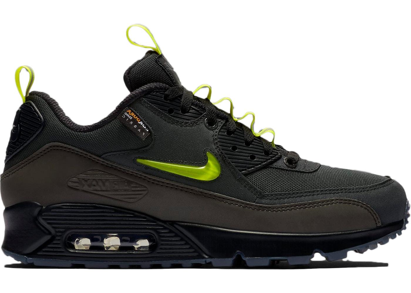 Air Max 90 Leather Men's Shoes Black Dark Blue Sale & Get
