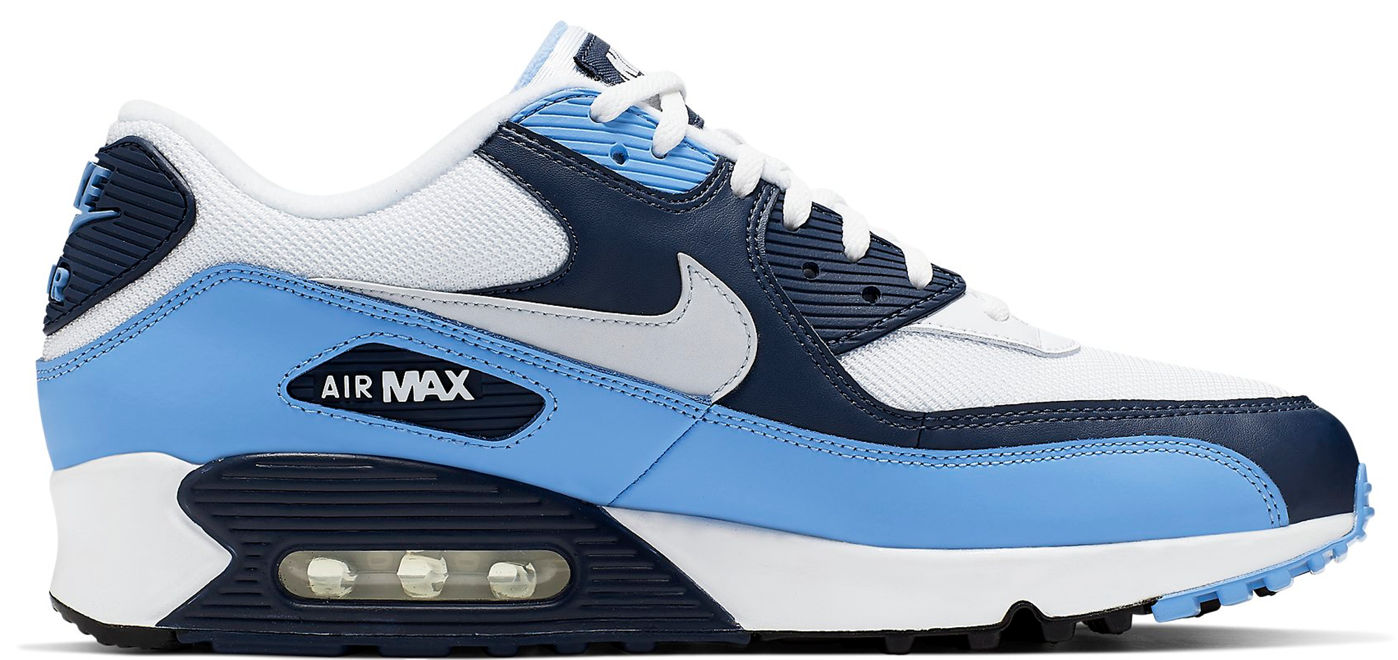 buy online 1032a cc090 Air Max 90 Essential in White-Pure Platinum-University Blue-Midnight Navy