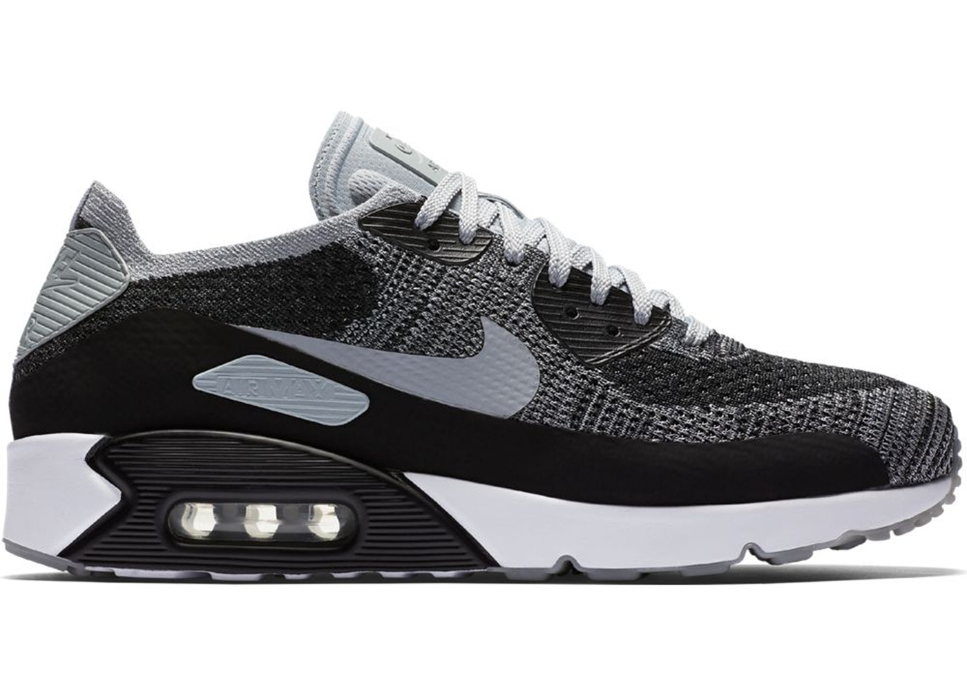 on sale e014d 3c1b5 Air Max 90 Ultra 2.0 Flyknit Black Wolf Grey