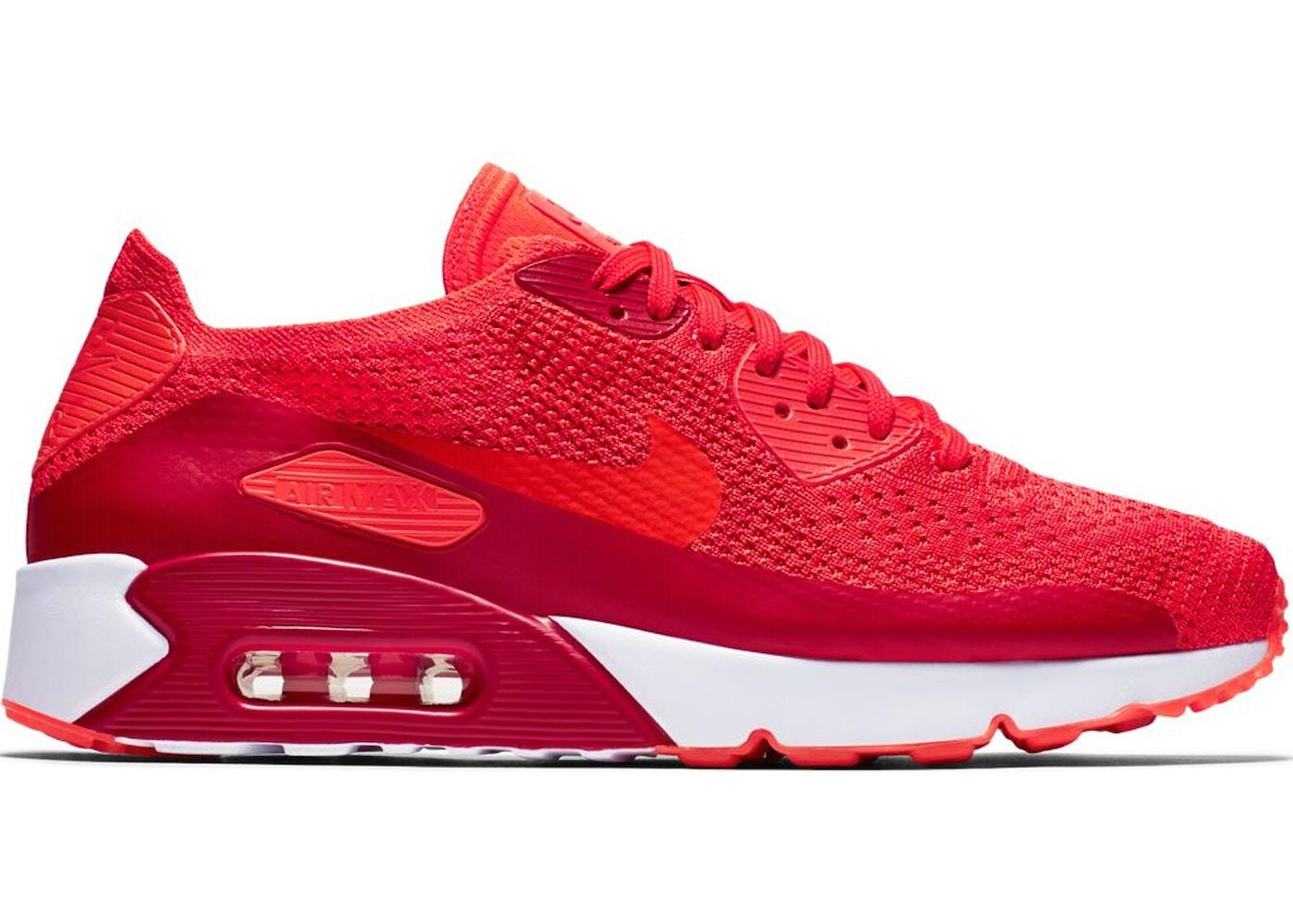 Nike Air Max 90 Ultra 2.0 Flyknit Bright Crimson 10.5 875943 600