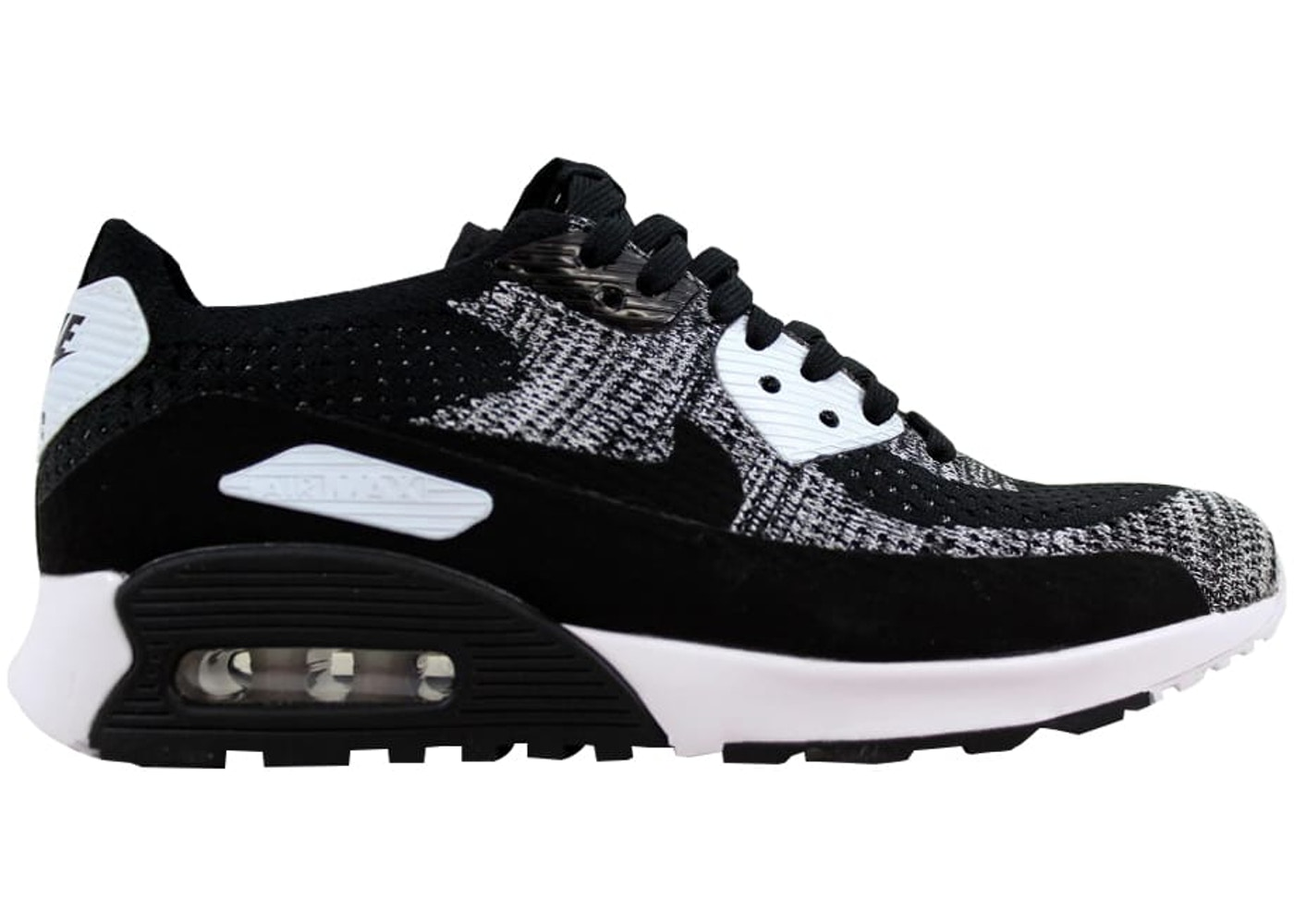3a43f406a76c Nike Air Max 90 Ultra 2.0 Flyknit Black Black-White-Anthracite (W ...