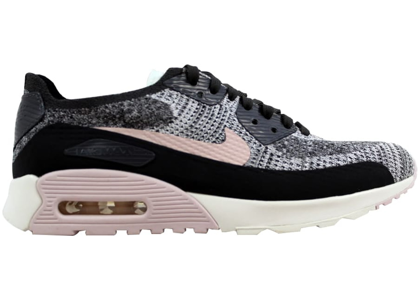 1954971591a Nike Air Max 90 Ultra 2.0 Flyknit Midnight Fog Silt Red-Sail (W ...