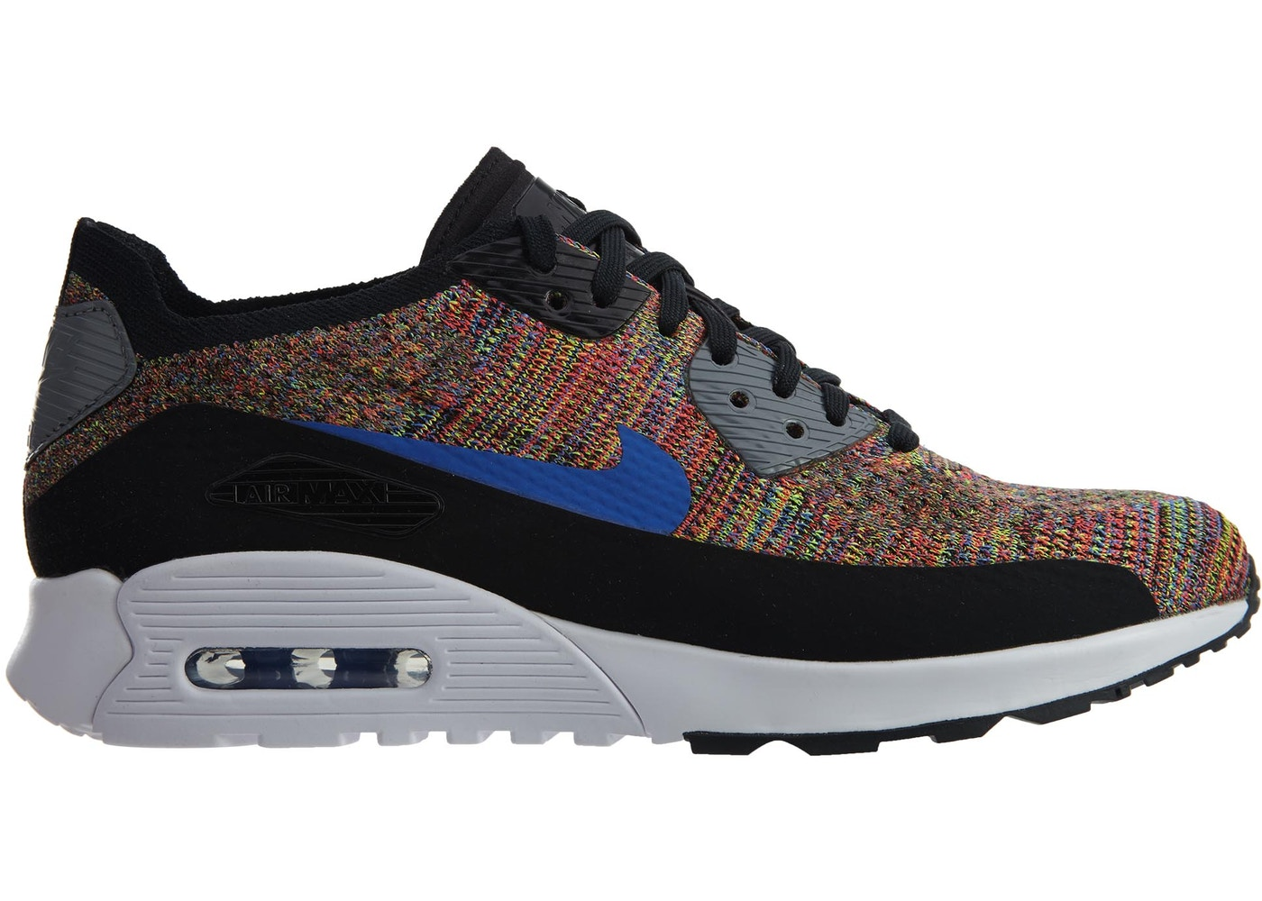 wholesale dealer cd0b3 028f4 Air Max 90 Ultra 2.0 Flyknit Black Medium Blue Cool Grey (W)