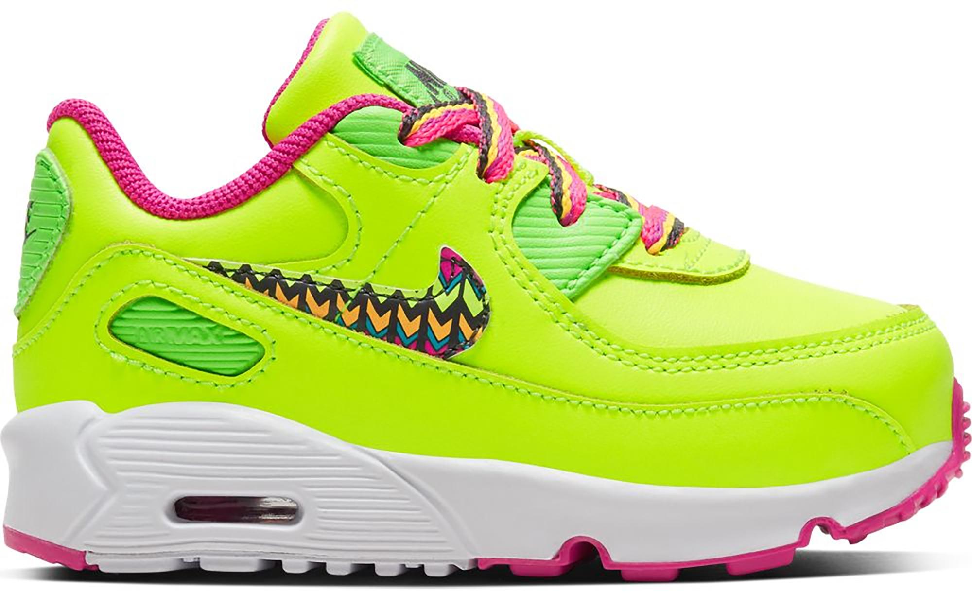 Nike Air Max 90 Volt Fire Pink Green