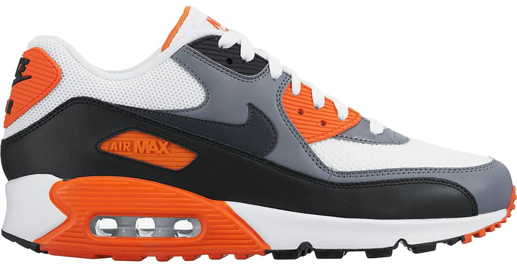 Nike Air Max 90 White Grey Orange