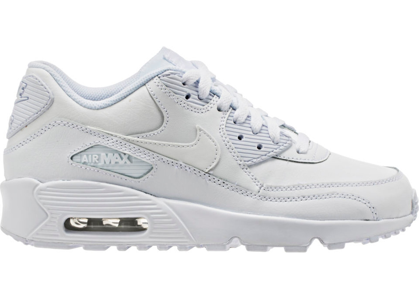 brand new dbf3a 64e40 Sell. or Ask. Size: 6Y. View All Bids. Air Max 90 White Leather (GS)