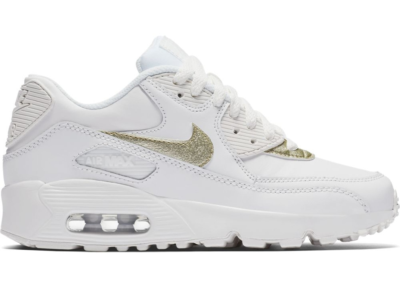 d3741be412 Sell. or Ask. Size: 5Y. View All Bids. Air Max 90 White Metallic Gold Star  ...